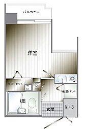 朝日プラザ博多Ⅵ(605)[6階]の間取り