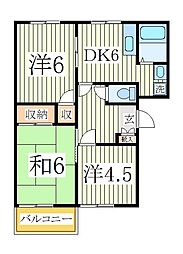クレスト篠籠田I[2階]の間取り