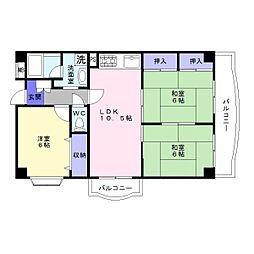 アネックス津和弐番館[3階]の間取り