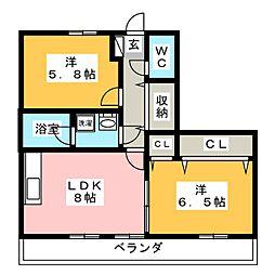 籠原ビル[2階]の間取り