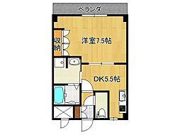 奈良県橿原市五井町の賃貸アパートの間取り