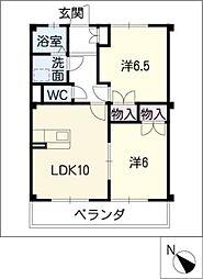 サントピア21A棟[1階]の間取り