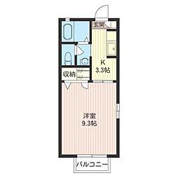鈴幸ハイツI[2階]の間取り