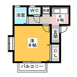 コーポミヤコ[1階]の間取り