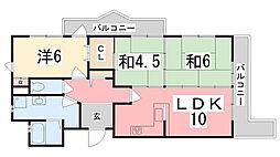 ホーユウパレス加古川[703号室]の間取り