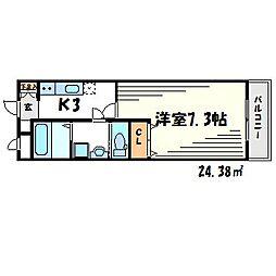 N.Cube[7階]の間取り