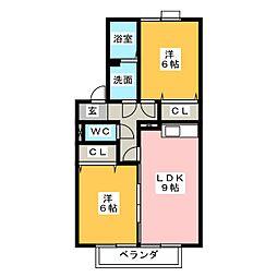 エンジェルV A棟[2階]の間取り