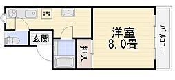 エスポワール伏見台[213号室号室]の間取り