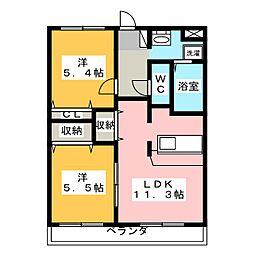 ノーヴァ21[1階]の間取り