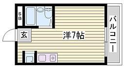 兵庫県明石市中崎2丁目の賃貸マンションの間取り