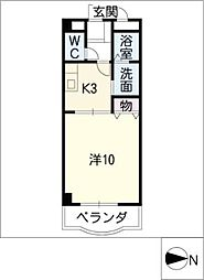 アメリアコート2001[4階]の間取り