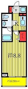 間取り,1K,面積25.25m2,賃料9.5万円,東京メトロ有楽町線 地下鉄赤塚駅 徒歩3分,東武東上線 下赤塚駅 徒歩6分,東京都板橋区赤塚新町3丁目3-4