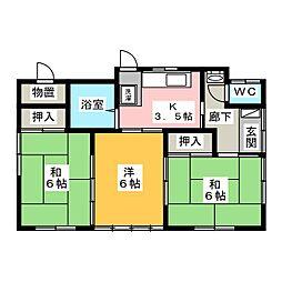 [一戸建] 茨城県水戸市元吉田町 の賃貸【茨城県 / 水戸市】の間取り