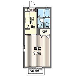 メゾン・ヒラソール[1階]の間取り