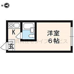 グローアップ京都[410号室]の間取り