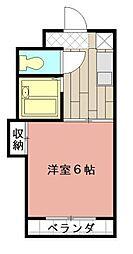 シャトレ境川II[302号室]の間取り