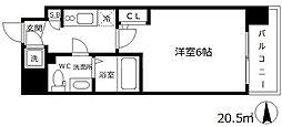 エスリード梅田グランノース[7階]の間取り