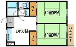 長吉グリーンハイツ[2階]の間取り