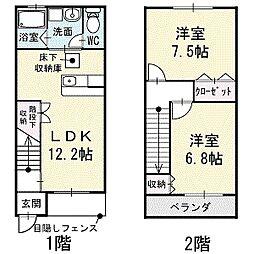 [タウンハウス] 愛知県岡崎市東蔵前1丁目 の賃貸【/】の間取り