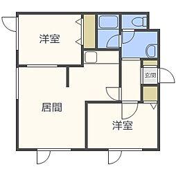 ハラハイムII[2階]の間取り
