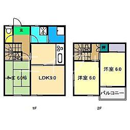 [一戸建] 高知県高知市福井町 の賃貸【/】の間取り