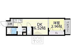 ドゥエリング千林商店街 5階1DKの間取り