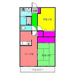ボナール花島[302号室]の間取り