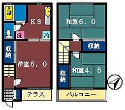 [テラスハウス] 千葉県船橋市飯山満町1丁目 の賃貸【/】の間取り