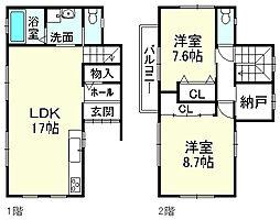 JR東海道・山陽本線 守山駅 バス11分 河西口下車 徒歩8分 2SLDKの間取り