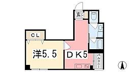 坂元町OMORIビル[401号室]の間取り