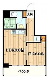 レガート横浜[202号室]の間取り