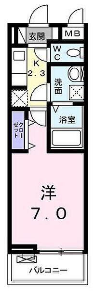 東京都青梅市河辺町10丁目の賃貸アパートの間取り