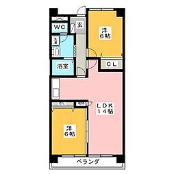 ミラリオ東島[4階]の間取り