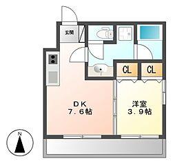 diciottoATSUTA[1階]の間取り