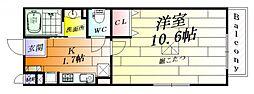 エトワールミカサ[1階]の間取り