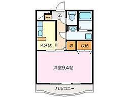 ユートピア垣鼻 II[1階]の間取り