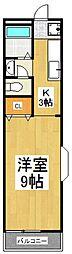 K・Yコーポ[1階]の間取り