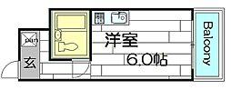 コウエイ阿波座[8階]の間取り