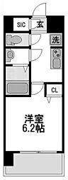 リッツ新大阪[1204号室]の間取り