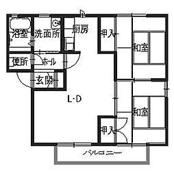 サンコート赤坂[2階]の間取り