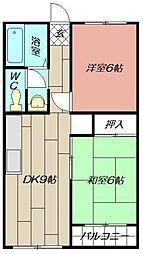 高浜ビル[302号室]の間取り