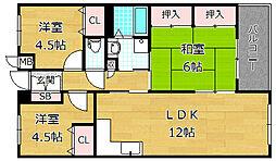 Garden Style 光善寺[2階]の間取り