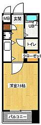 サンライフ高取[201号室]の間取り