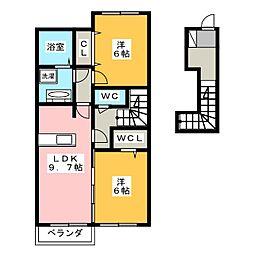 Gardenia[2階]の間取り