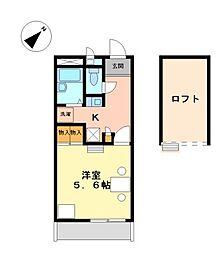 兵庫県高砂市梅井4丁目の賃貸アパートの間取り