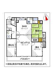新戸山ビル[7A号室]の間取り