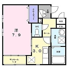 ピッコラ[1階]の間取り