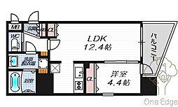 クリスタルグランツ梅田II[10階]の間取り