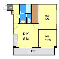 コスモハイツ[305号室]の間取り