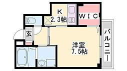 仮)神戸市長田区二葉町マンション 4階1Kの間取り